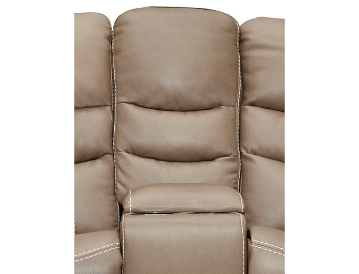Baldwin Reclining Loveseat, Brown, , large