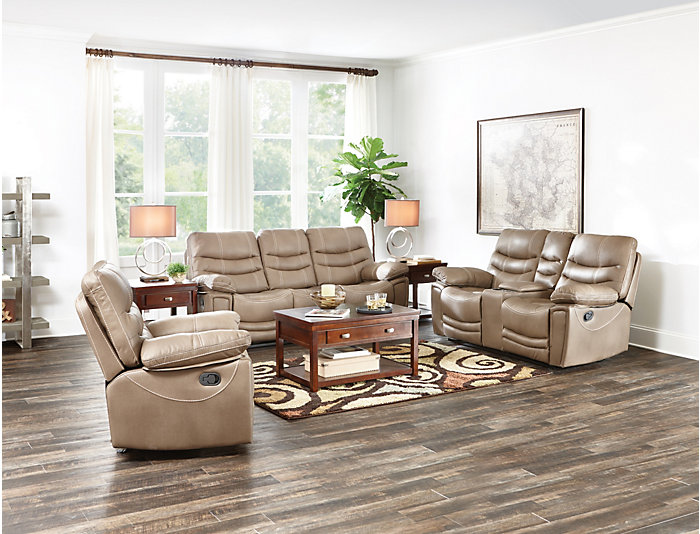 Baldwin Reclining Sofa, Brown, , large