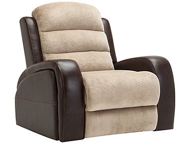 Clark Manual Two-Tone Rocker Recliner, , large