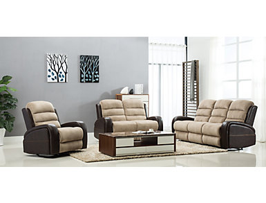 Clark Two-Tone Manual Rocker Recliner, , large