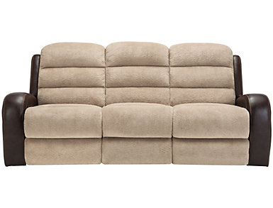 Clark Manual Two-Tone Reclining Sofa, , large