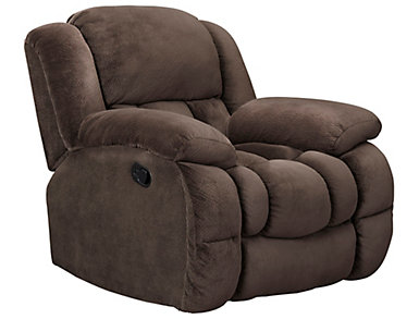 Memphis Manual Chocolate Glider Recliner, , large