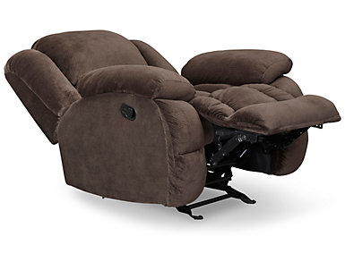 Memphis Chocolate Manual Glider Recliner, , large