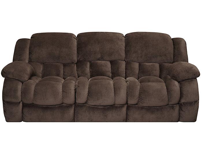 Memphis Manual Chocolate Reclining Sofa Large