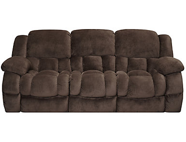 Memphis Manual Chocolate Reclining Sofa, , large