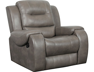 Edmon Grey Glider Recliner, , large