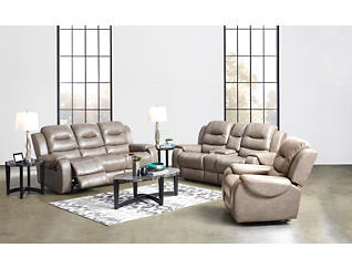 Edmon Mushroom Manual Reclining Console Loveseat, , large
