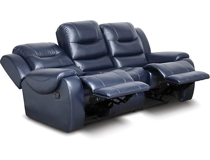 Awesome Edmon Navy Reclining Sofa Ibusinesslaw Wood Chair Design Ideas Ibusinesslaworg