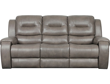 Edmon Grey Reclining Sofa, , large