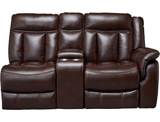 LAF Reclining Console Loveseat, , large