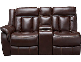 RAF Reclining Console Loveseat, , large