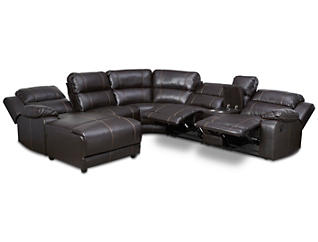 Laramie III 6 Piece Reclining Sectional, , large