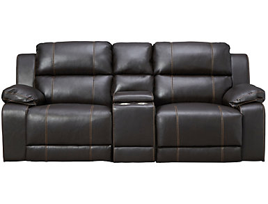 Reclining Console Loveseat, , large