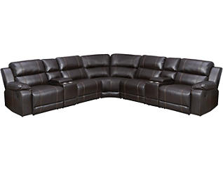 7PC Reclining Sectional, , large