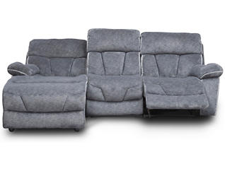 Gladiator Charcoal Power Reclining Left-Arm Facing Sofa Chaise, , large
