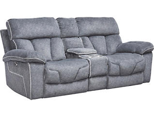 Gladiator Charcoal Power Reclining Loveseat, , large