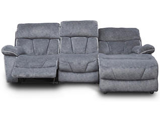 Gladiator Charcoal Power Reclining Sofa Chaise, , large