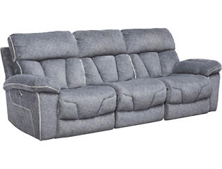 Gladiator Charcoal Power Reclining Sofa, , large