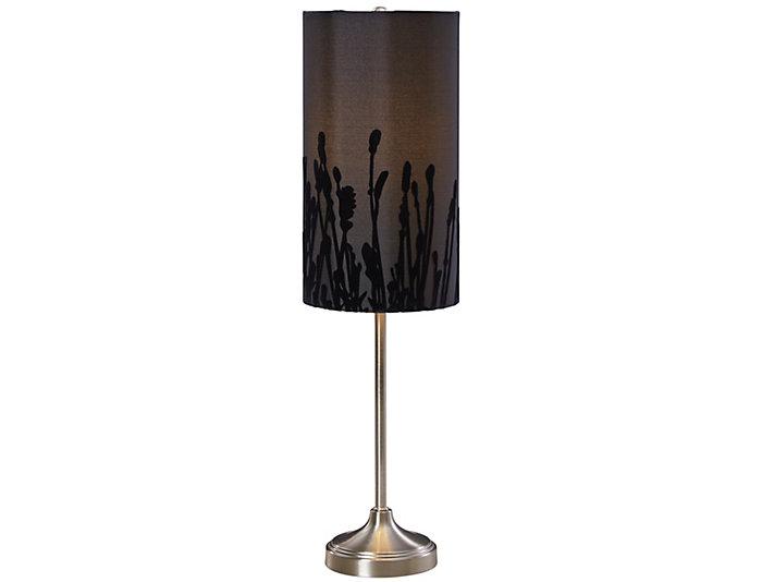 Black Velvet Buffet Lamp, , large