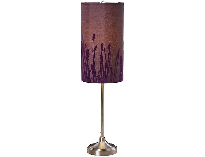 Purple Velvet Buffet Lamp, , large