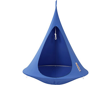 Single Blue Hanging Cocoon, , large