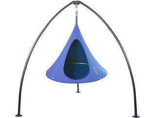 Single Hanging Cocoon, Blue, large