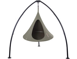 Single Hanging Cocoon, Taupe, large