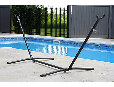 Reilly Black 9  Hammock Stand, Grey, large