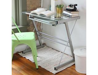 Solo Silver Computer Desk, , large