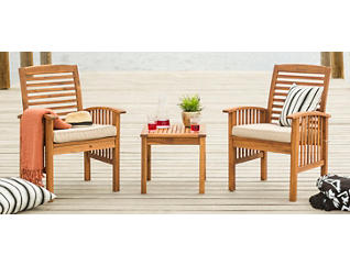 Aspen 3pc Acacia Chat Set, , large