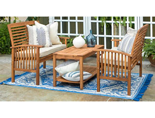 Aspen 3pc Acacia Seating Set, , large