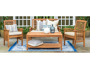 Aspen 4pc Acacia Seating Set, , large