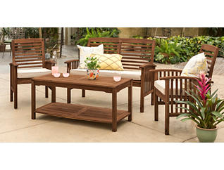 Aspen 4pc Brown Seating Set, , large