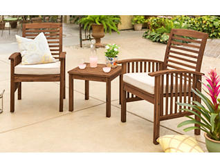 Aspen 3pc Brown Chat Set, , large