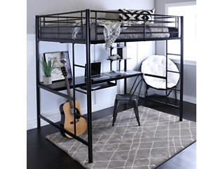 Kylie Black Full Loft Bed, , large