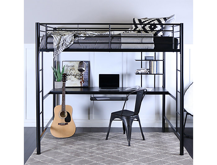 Kylie Black Full Loft Bed, , large