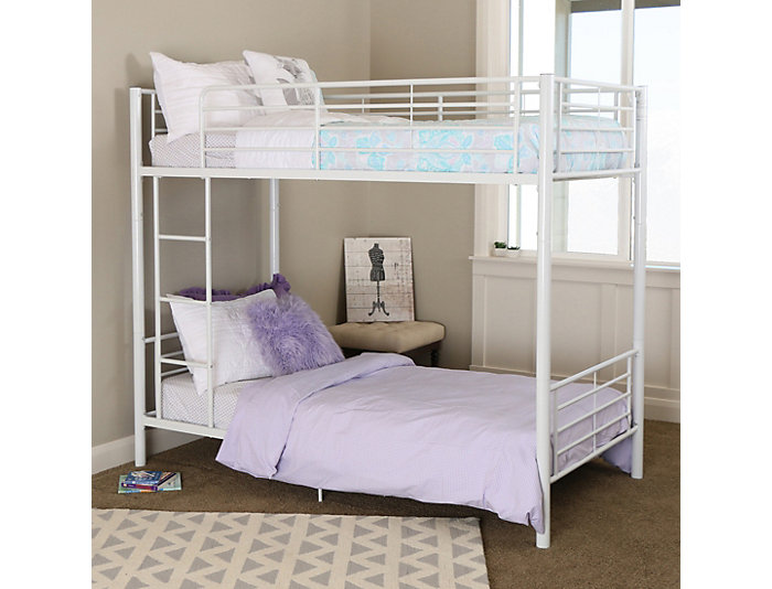 Kylie Twin Bunk Bed w/ Trundle, , large
