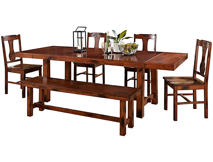 Rocky 6 Piece Dining Room Set, , large