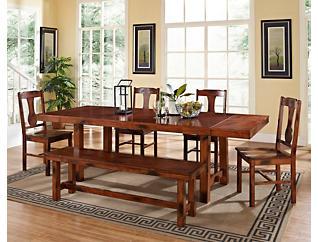 Rocky 6 Piece Dining Room Set, , large