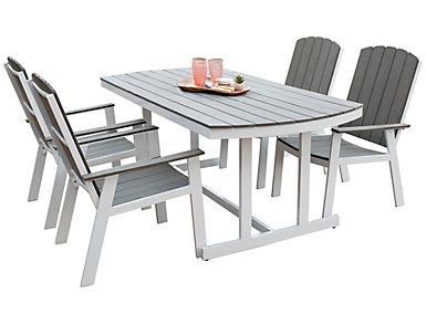 Coastal 5pc Dining Set, , large