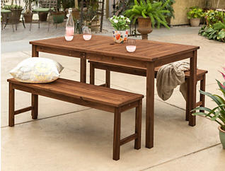 Haiti 3pc Brown Dining Set, , large