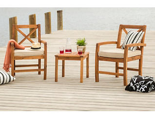 Juno 3pc Acacia Chat Set, , large