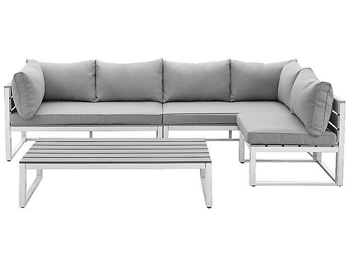 Kent 4pc Grey Seating Set, , large