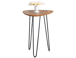London Walnut End Table, Brown, , large