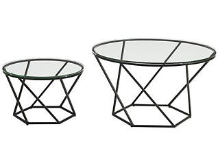 Nesting Coffee Tables, Black, , large