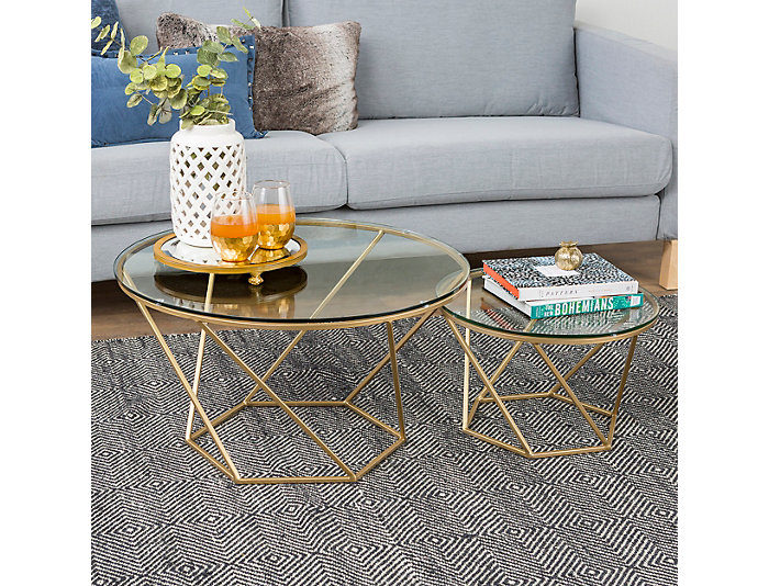 Nesting Coffee Tables, Gold, , large