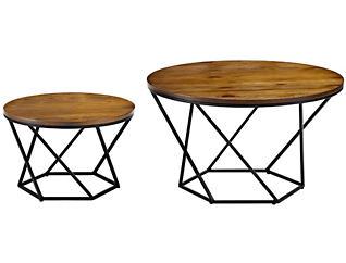 Oak Coffee Tables, Black, , large