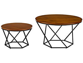 Walnut Coffee Tables, Black, , large