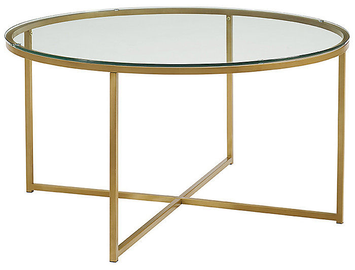 Derby X Base Coffee Table, Gold, , large