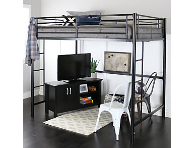 Kylie Black Full Size Loft Bed, , large